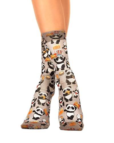Wigglesteps Damen Socken PANDA FOOD, one Size (36-41)