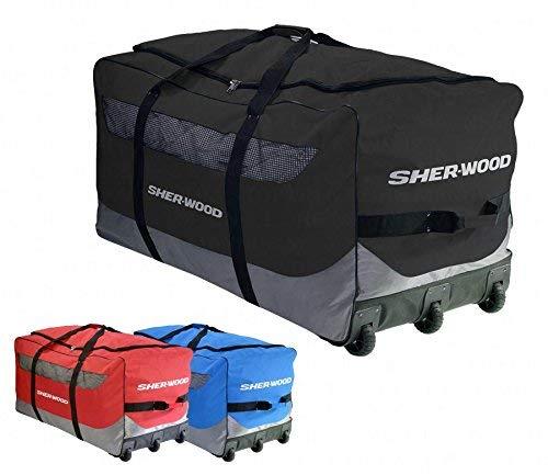 Sherwood Eishockeytasche SL 800 Goalie Wheel Bag, Schwarz, 111 x 56 x 55 cm, 92 Liter