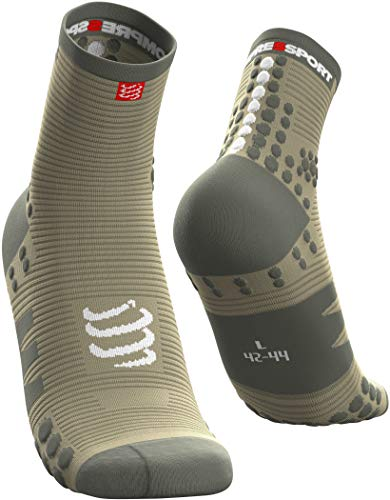 Compressport Pro Racing Socks V3.0 Run High Olijf-Groen
