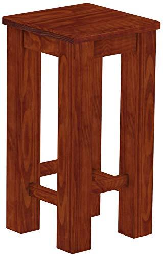 Brasilmöbel Barhocker Rio Classico Mahagoni Pinie Massivholz Hochbank Konsolentisch Holzbank - Größe und Farbe wählbar