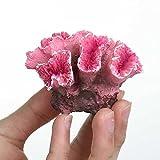 ZYING Colorido Resina Acuario Artificial Coral Arrecife decoración de Peces tonelaje Coral Piedra Paisaje Ornamento Herramienta Adorno de Acuario (Color : B)
