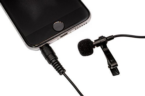 DURBPRO 58' Lavalier Microphone Clip-on Lapel Omnidirectional Condenser Mic for Apple iPhone, iPad, iPod Touch, Samsung Android, MacBook, iMac, and Windows Smartphones Podcast Phone Video Recording