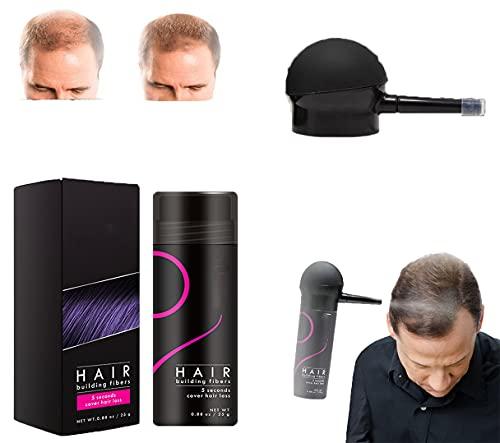Fluff Up Secret Hair Fiber In Polvere,Per Capelli Di Qualsiasi Colore 5 Secondi Copre Impermeabile A Lunga Durata 25 G Con Applicatore Spray (oro)