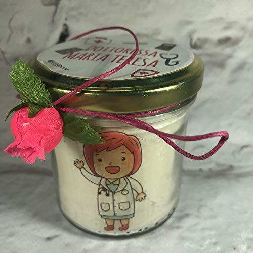 Regalo per Dottore o Dottoressa Candela in cera di soia personalizzata idea regalo per medico pediatra chirurgo infermiera paramedico