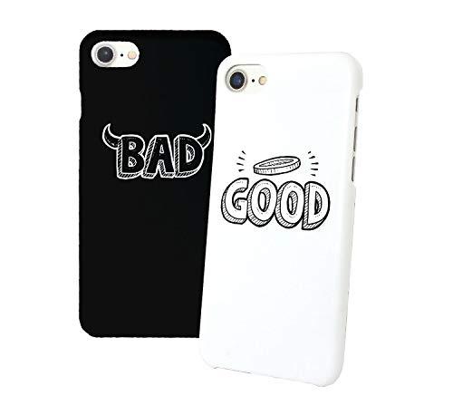 Good And Bad White And Black Iphone Relazione Amicizia Accoppiamento Custodia Protettiva In Plastica Rigida Phone Case PerIil Migliore Amico iPhone 6, 6s, 7, 7 Plus, 6 Plus, 8, X Case