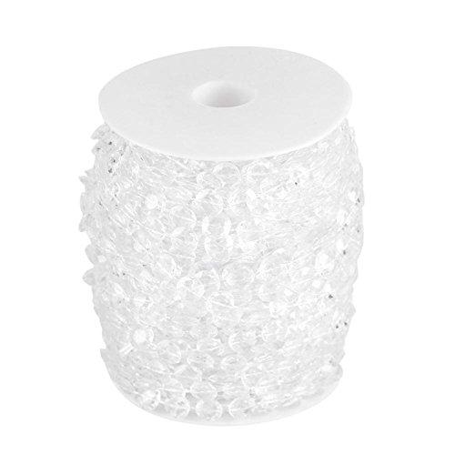 Roll van slinger diamant kraal kristal acryl transparant voor bruiloft boom gordijn ambacht DIY decoratie Kerstmis bruiloft partij 30M