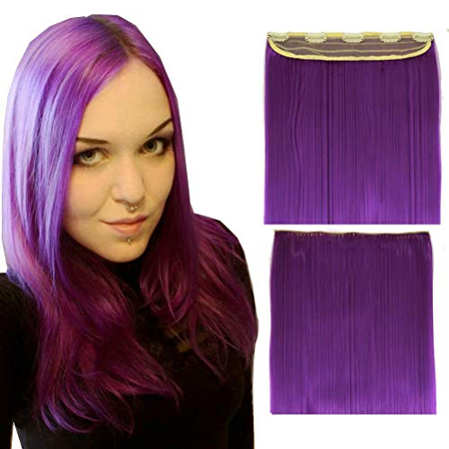 iLUU Clip in Hair Extensions Synthe…