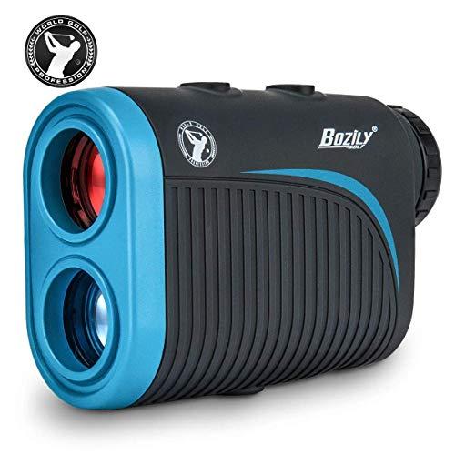 Bozily Golf Entfernungsmesser, 6X Wiederaufladbarer Laser Rangefinder, 1200 Yards Lasermessgerät mit Neigungsverstellung, Flag-Lock, 2 Scan Modus, Continuous Scan Unterstützung, Turnier Zugelassener