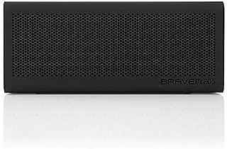 BRAVEN 805 Portable Wireless Bluetooth Speaker [18 Hours Playtime] Built-in 4400 mAh Power Bank Charger - Black/Black