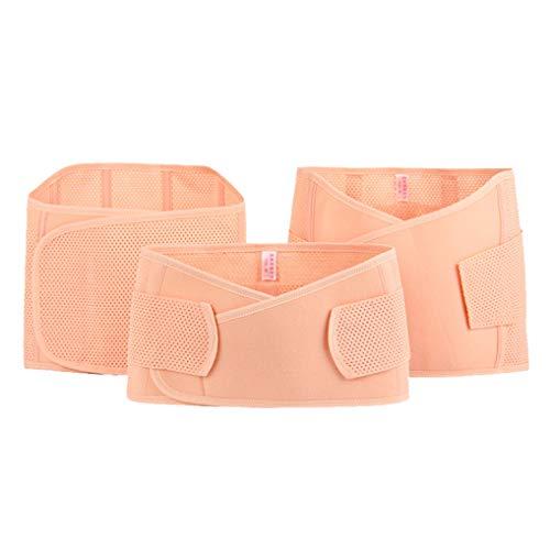 Cinturón de Maternidad multifunción de 3 Piezas para el Vientre Postnatal para Mujeres Embarazadas, Carpeta Abdominal Mesh M