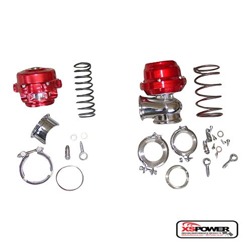 XS-Power 50mm BOV AND 44mm Wastegate Combo Turbo blow off valve and Waste Gate RED