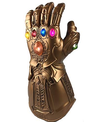 yacn Thanos Infinity Handschuh für Cosplay, Unendlichkeit Edelsteine, Avengers Infinity War Handschuh (PVC-glove)