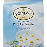 Twinings of London Pure Camomile Herbal Tea Bags, 50 Count (Pack of 1)