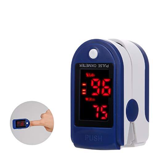 Entweg Pulsossimetro, Pulsossimetro Mini Monitor SpO2 Monitoraggio saturazione Ossigeno Misuratore di frequenza cardiaca Misuratore 5 s Lettura Rapida