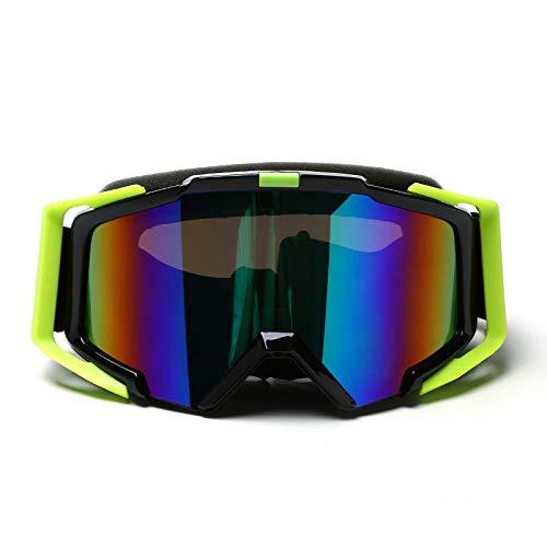 CXJ Gafas Esquí Ski Gafas Goggle Lente Doble Snowboard De Sol Professional Anti Fog UV,Black