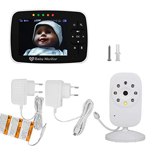 zcyg Cámara Cámara de vigilancia Cámara de Seguridad 3.5 LCD Wireless 2.4GHz Digital Baby Monitor IR Night Vision Zoom Zoom 2 Way Cámara De Audio UE
