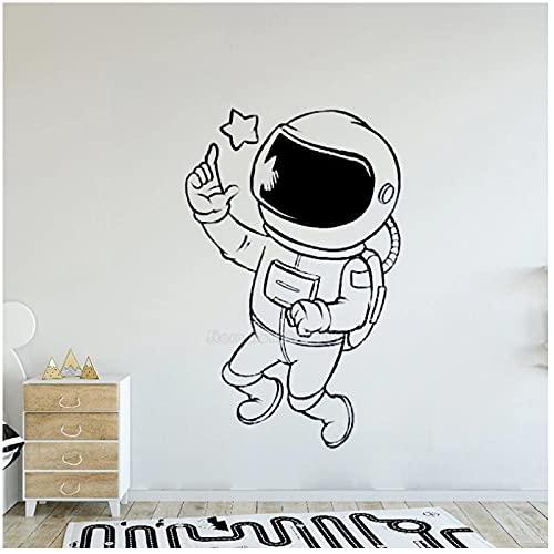 WYLYSD Nette Cartoons Astronaut Star Pattern Wandaufkleber Für Jungen Zimmer Kinderzimmer Kinderzimmer Home Decoration Wandtattoo 70Cm X 110Cm