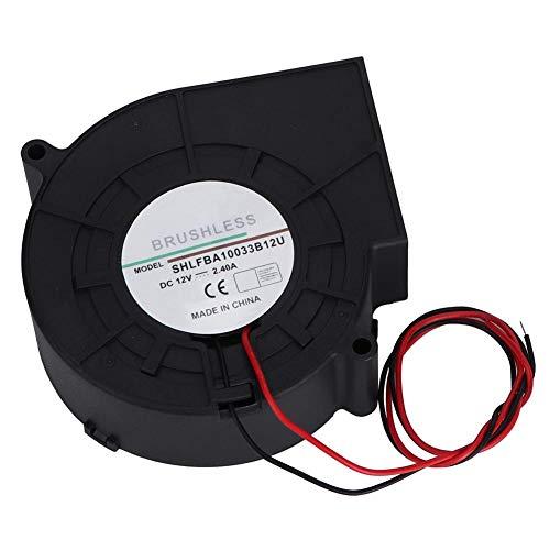 Jadpes Dual Ball Turbos ventilator, dubbele kogelturbine, ventilator, ventilator voor picknick camping verwarming, barbecue, 12 V, 2,4 A, voor CE-componenten koeling