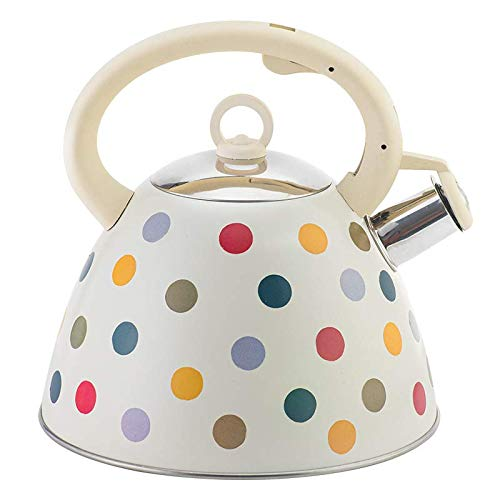 MiXXAR 3L Whistling Kettle Whistling Tea Kettle Stovetop Polka Dot Anti-rust And Anti-heat Handle Universal For Gas Stove And Induction Cooker