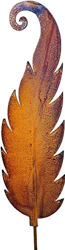 Bornhöft Gartenstecker Rankstab rostiger Farn Metall Rost Gartendeko Edelrost 114cm