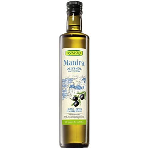 Rapunzel Olivenöl MANIRA, nativ extra, 1er Pack (1 x 0,50l) - Bio