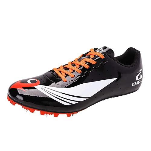 XTZLTY Zapato De Pista Y Pista, Sprint Sneaker Racing Spikes Zapatos Zapatos De Larga Distancia para Niños Menores Y Mujeres,Negro,42