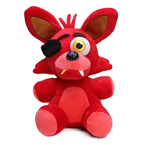 DEERO 25cm FNAF Freddy Fazbear Juguetes de Felpa Cinco Noches en Freddy'S Golden Bear Nightmare Cupcake Foxy Globo niño Payaso muñecas de Peluche (Old Red Foxy)