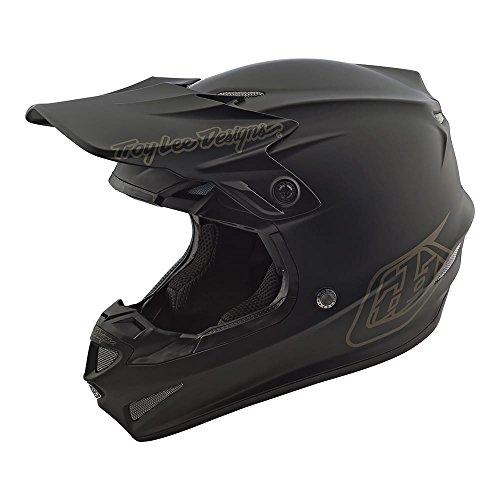 Troy Lee Designs SE4 Polyacrylite Mono Off-Road Motocross Helmet (Black, Large)