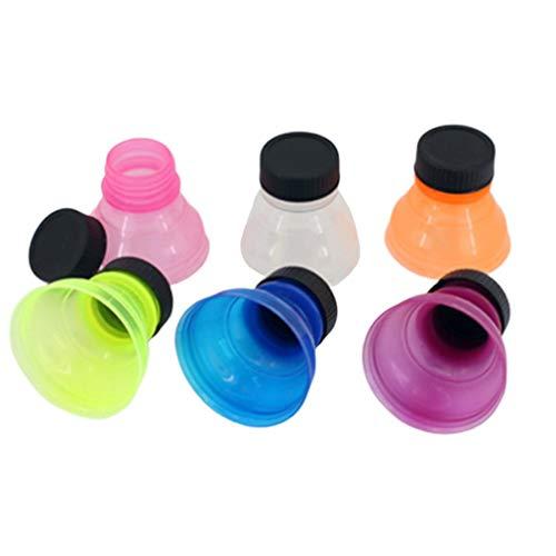 RHNE Cubierta de Sellado de latas de refresco Paquete de 6 Cubiertas de Sellado de Polvo de Bebidas de Grado alimenticio Material plástico Conservación de refrescos 6 unids/Set