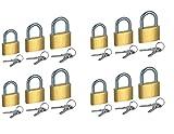 Fusine™ Pack of 12 - Premium Quality Small Brass Key Pad Lock