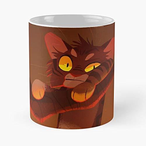Warrior Brambleclaw Cat Thunderclan Warriors Fire Cats Eat Food Bite John Best Taza de café de cerámica de 315 ml