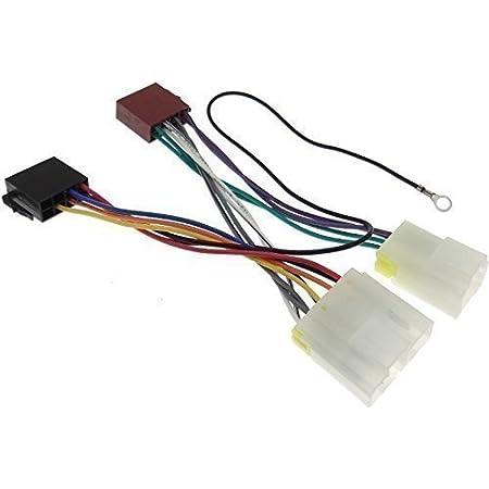 nissan (1) radio adapter connection cable radio adapter jack din iso wiring  harness: amazon.de: elektronik  amazon.de