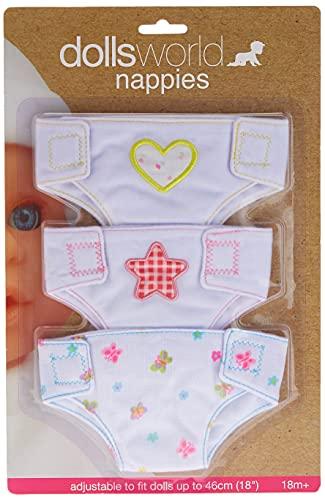 Dolls World Fabric Nappies by Dolls World
