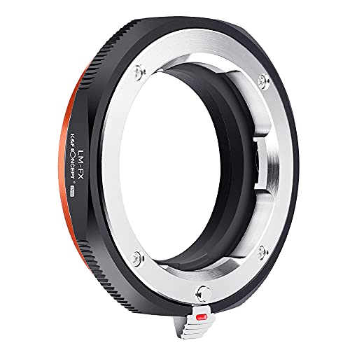 K&F Concept - Adaptador de Lentes, L/M-FX, Compatibles con Objetivos Lentes Leica M y Cuerpos de Cámara Fujifilm,Fuji,FX,Montura X Cámara