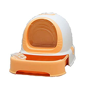 Rory Dissociables De Toilette pour Chat, Plus Grand Espace Litière Tiroir Type Plateau Boîte avec Pelle, Facile À Assembler 52 * 42 * 40Cm,E