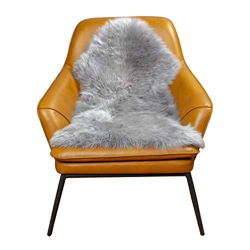 MYLUNE HOME Natur Schaffell Teppich Lammfell Sitzfell Bett-Vorleger oder Matte für Wohnzimmer Stuhl Sofa
