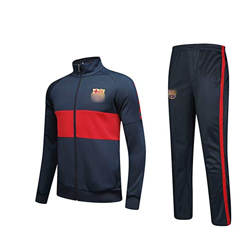 HS-HWH316 Messi Voetbal Club Trainingspak Set Gym Joggen Bottoms Casual Volledige Zip Joggers Sport Sweatsuit met Zakken Fan Kleding Gift