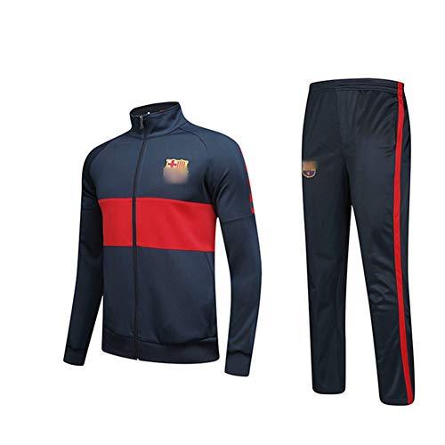 HS-HWH316 Messi Voetbal Club Trainingspak Set Gym Joggen Bottoms Casual Volledige Zip Joggers Sport Sweatsuit met Zakken Fan Kleding Gift