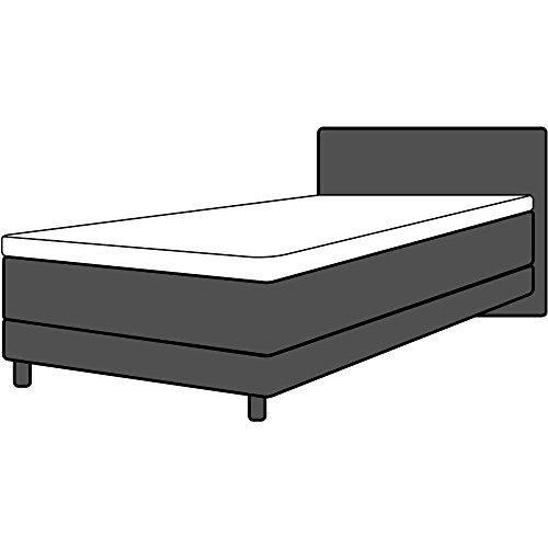 Dormabell Premium Topper-Spannbetttuch, veredelte Mako-Baumwolle für vollendeten Schlafgenuss, elastisch | Blickdicht | bügelfrei | langlebig, versch. Größen wählbar (180 x 200 cm)