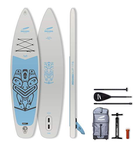 INDIANA Paddle & Surf Indiana Sup Inflatable Board Touring Placa Hinchable, Unisex Adulto, Gris, 11'6'' / 350 cm