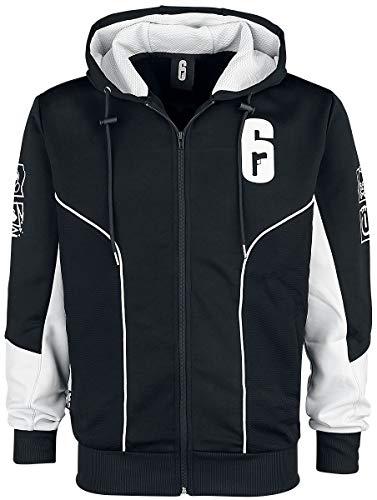 Rainbow Six Männer Kapuzenpullover schwarz/weiß S 100% Polyester Esports, Fan-Merch, Gaming, Ubisoft
