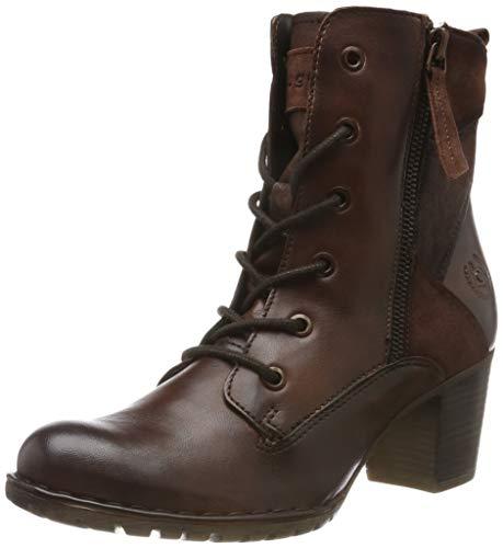 bugatti Damen 411333384134 Kurzschaft Stiefel Stiefeletten,  Braun Mid-Brown 6464,  42 EU