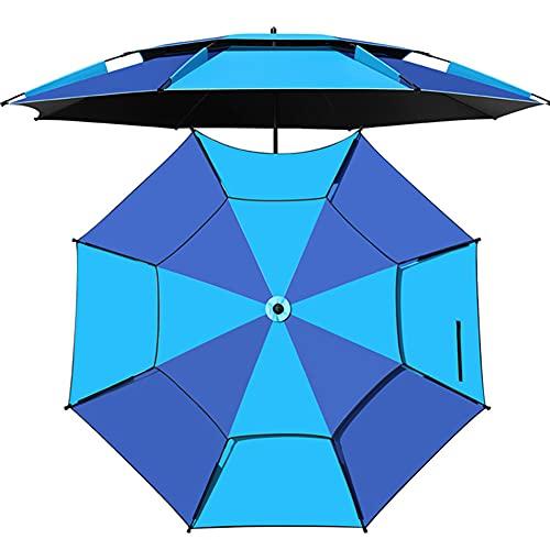 ELLENS Sombrilla de Playa con inclinación de 360 °, sombrilla portátil para Exteriores, toldo con Parasol, UPF50 + / a Prueba de Viento/a Prueba de Lluvia, con Bolsa de Transporte (Azul)