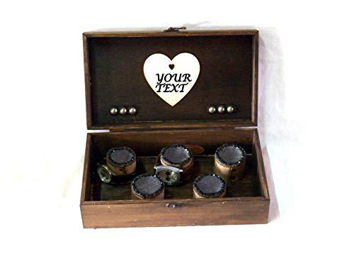 Personalizada Caja Boda, Personalizada Caja Guarda Relojes: Amazon ...