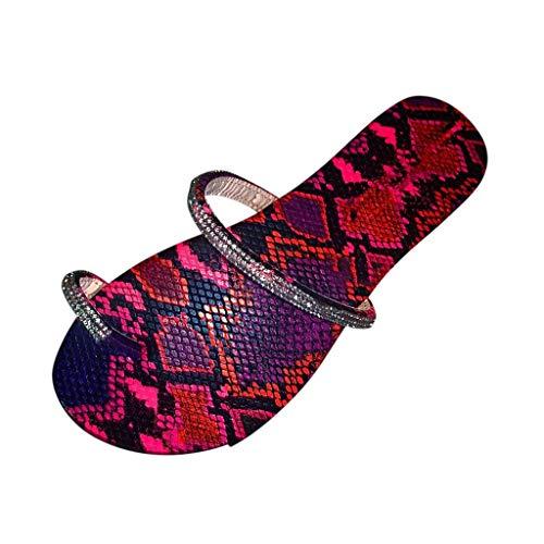 Writtian Sandalias Mujer Verano Planas Bohemia Sandalias Cómodo Casual Zapatos de Playa Casuales de Playa Elegantes Chanclas Sandalias de Dedo