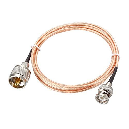 YeVhear UHF (PL259) macho a BNC, cable coaxial RG316 de 6 pies para antena coaxial, móvil a base