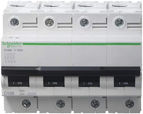 Schneider Electric A9N18374 Interruptor Automático Magnetotérmico C120N, 4P, 100A, curva C
