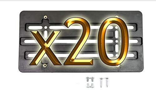 20 Front Bumper License Plate All stores are sold Tag Oklahoma City Mall Holder Mounting Mount Relocato