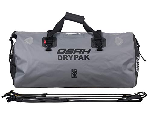 Motorcycle Waterproof Reflective Tail Dry Bag Saddle Luggage Outdoor Duffle Accessories Gray 60L
