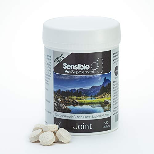 Sensible Pet Supplements 'Joint' for medium and large dogs. Contains glucosamine, green lipped mussel and a range of antioxidants. 120 chewable tablets.